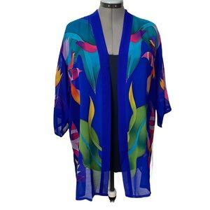 Sheer Silk kimono style topper O/S